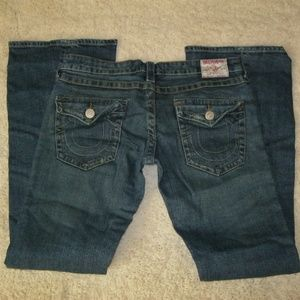 True Religion Joey Flare Jeans Tag 29 Actual 33X33